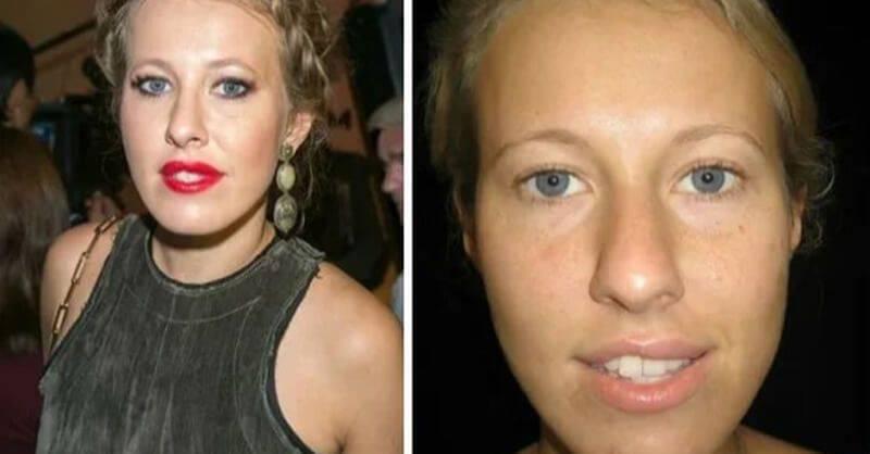 звезды русские до и после грима фото натуральный цвет