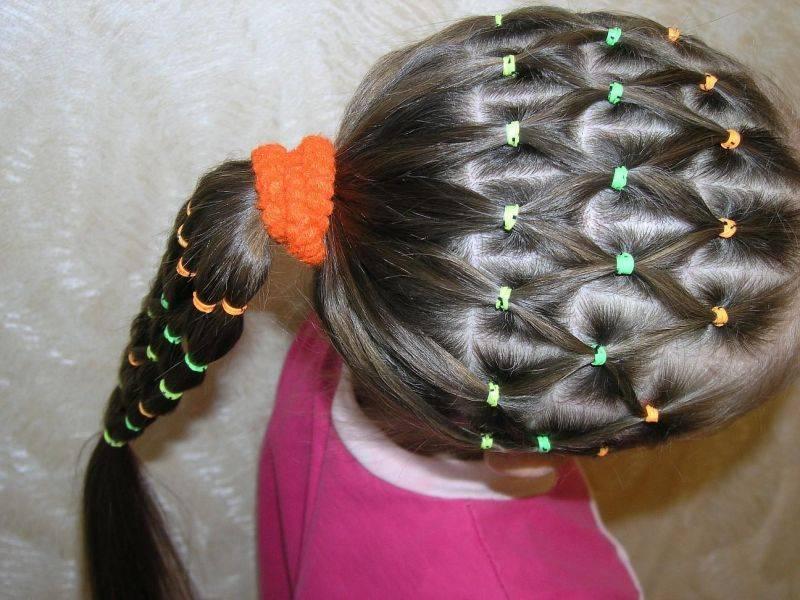 Прическа шишка для ребенка как сделать