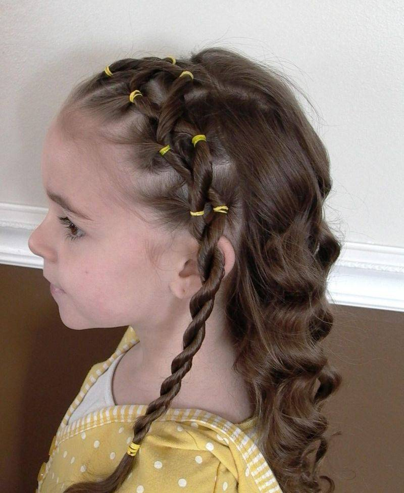 Причёска ребенку на длинные волосы
